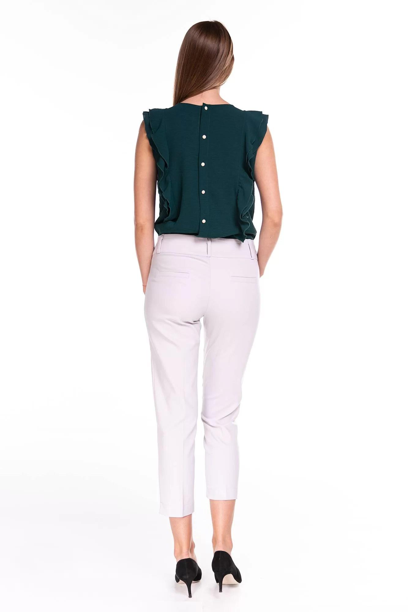 Spodnie Capri Kremowe