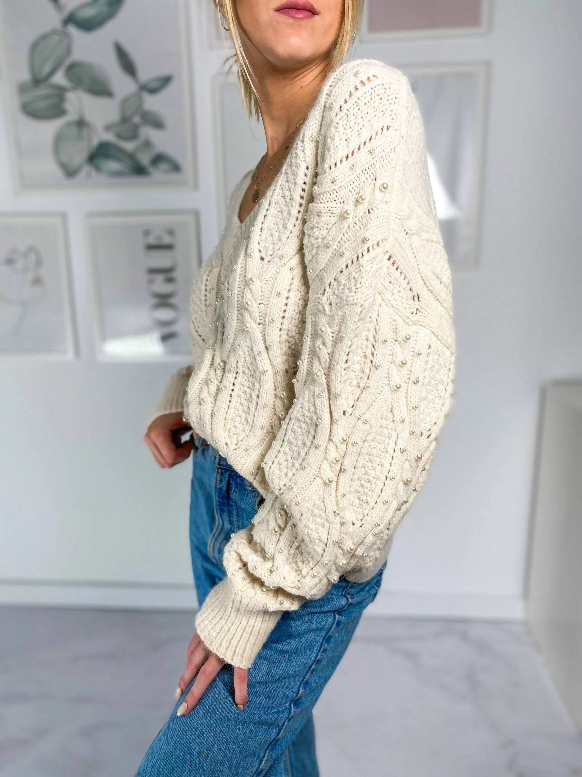 Sweter Coral Cream