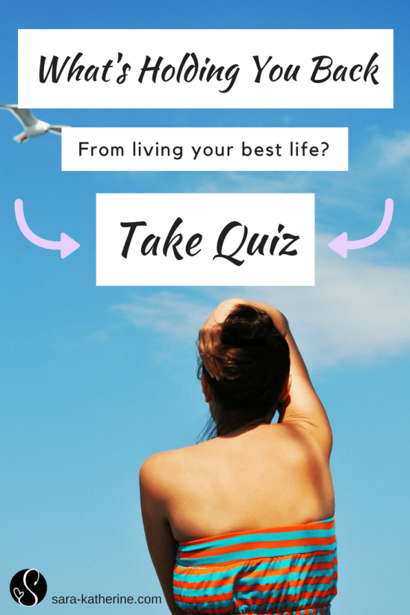 Wondering why you aren't living your best life? While maybe you're not sure what you want, still searching, or overall feeling stuck, this quiz is meant to help you discover what's been holding you back from achieving your dream life, along with some quick advice on how to get started living the life of your dreams. Take the quiz now to see!