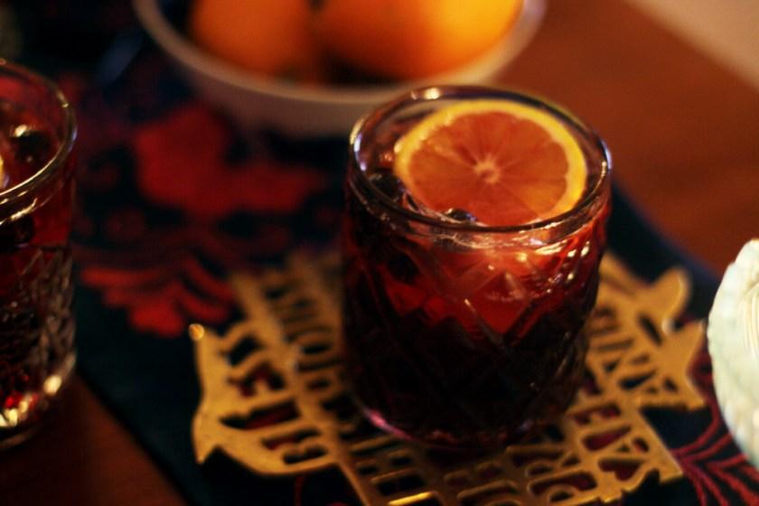 gin och tonic med glögg