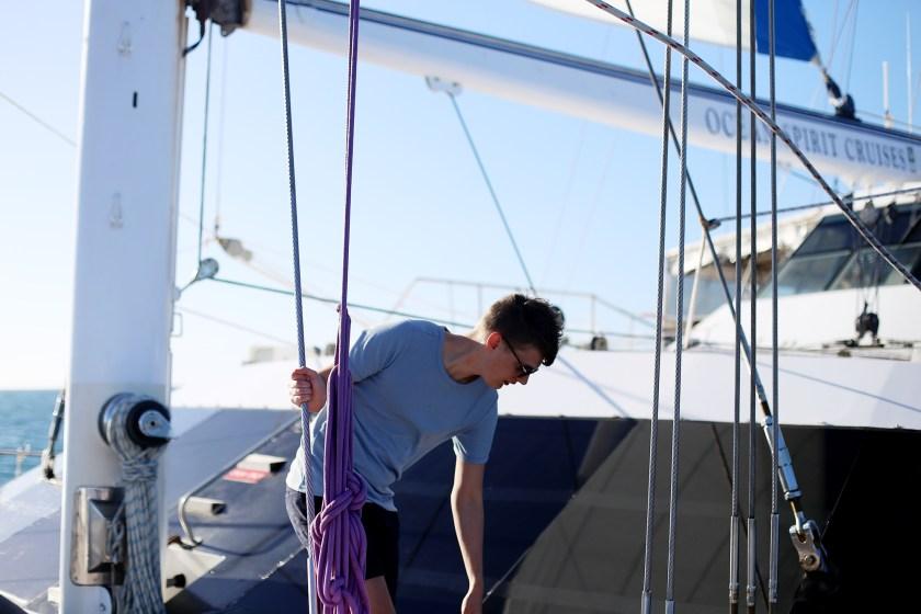 en båttur vid stora barriärrevet38