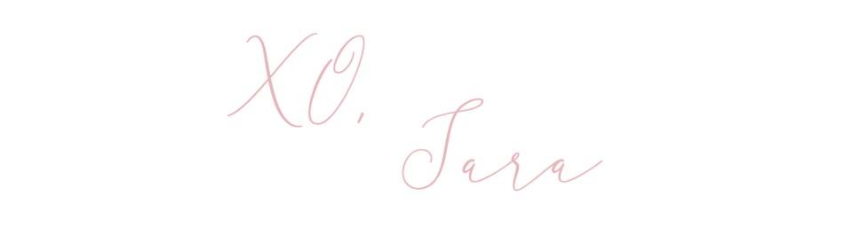 xo sara blog signature