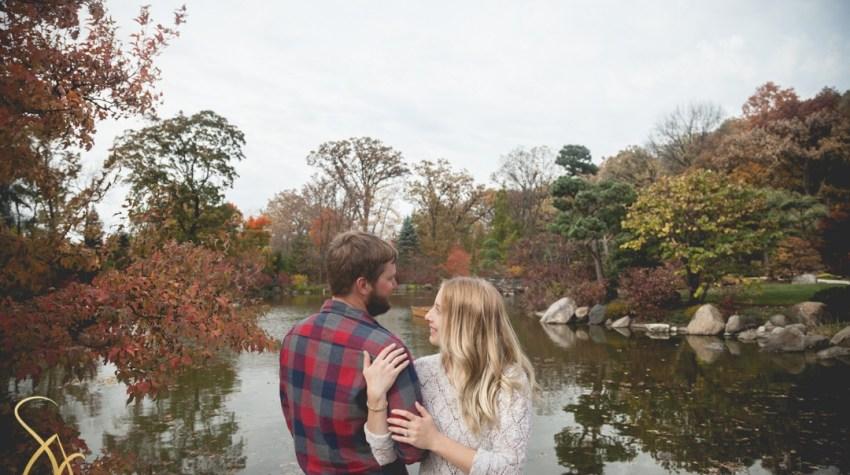 Anderson Japanese Gardens fall engagement session, Rockford, Illinois Sara Johnson Photography
