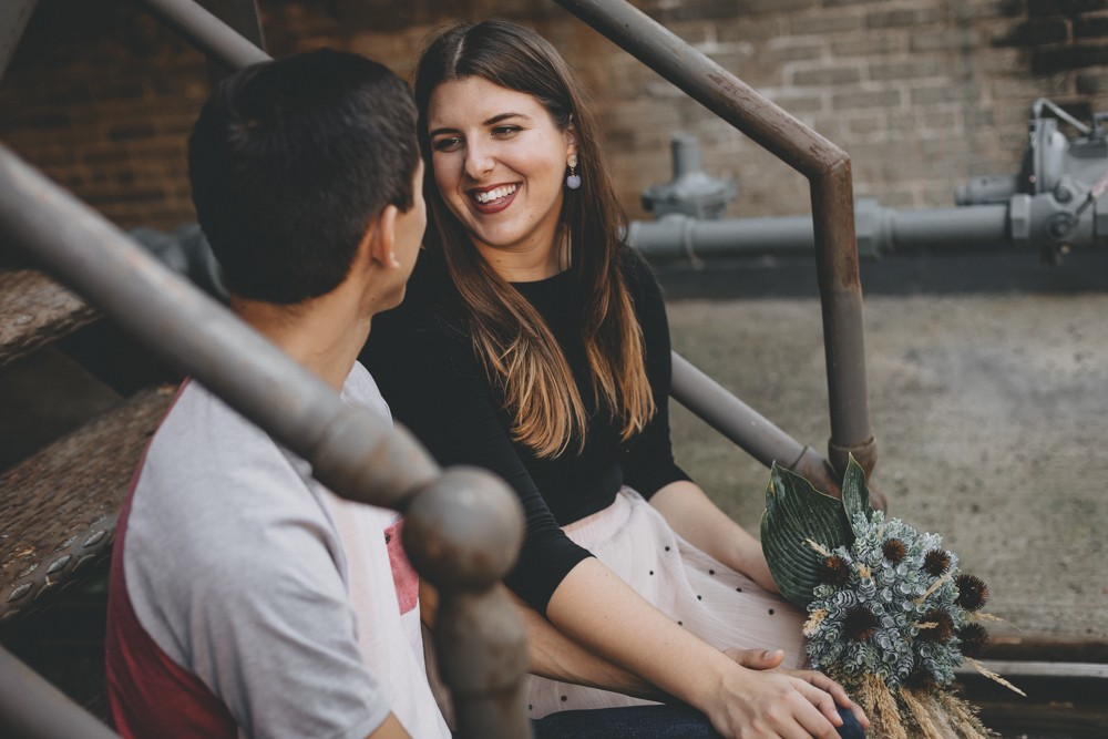Boho luxe urban engagement session in downtown Rockford, IL by Sara Anne Johnson
