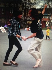 Dancing in the streets.