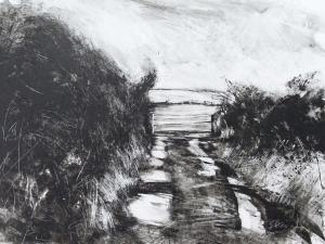Back Road to St. Buryan - Black Ink