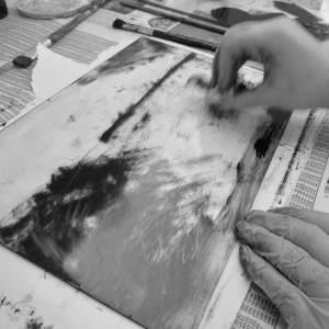 Preperation of monotype print