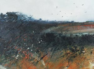 Newly Ploughed Ground - Oil Painting
