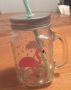 Mug mason jar flamand rose