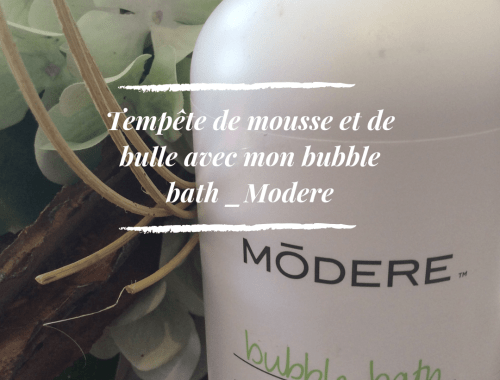 Bubble bath modere