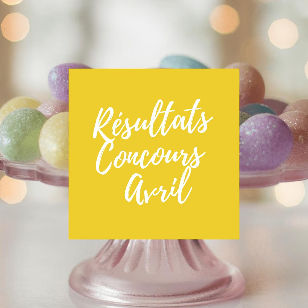 Résultats Concours Avril