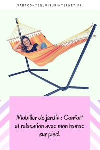 Mobilier de jardin: Confort et relaxation avec mon hamac sur pied.
