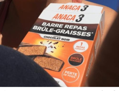 Anaca 3: Que valent leurs barres repas brûle graisses?