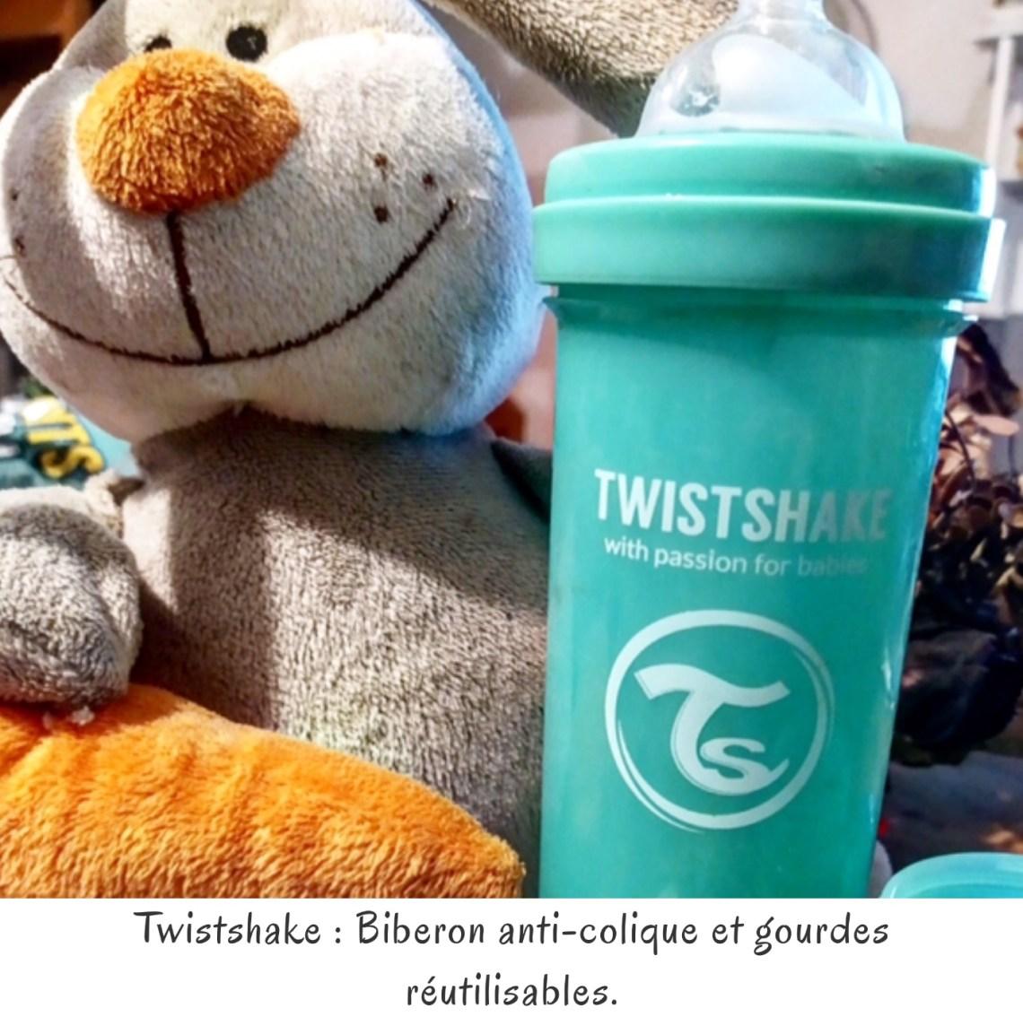 Twistshake : Biberon anti-colique et gourdes réutilisables.