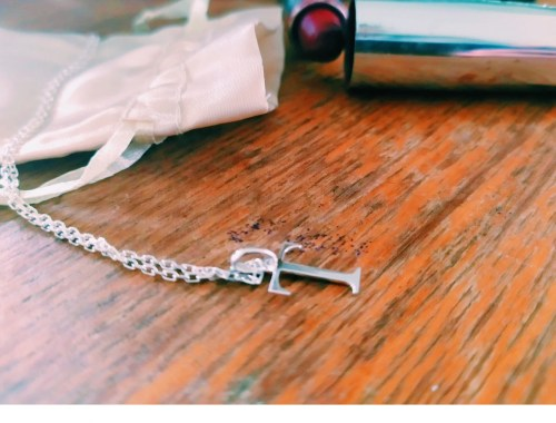 Tendance & Co : Un pendentif « lettre » en l'honneur de mon fils.