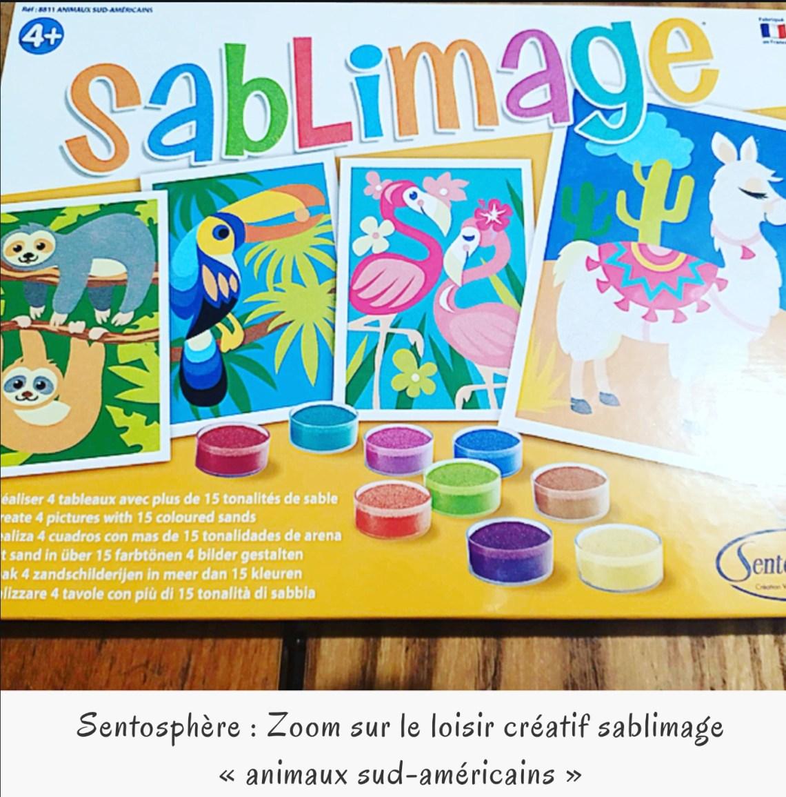 Sentosphère : Zoom sur le loisir créatif sablimage « animaux sud-américains »