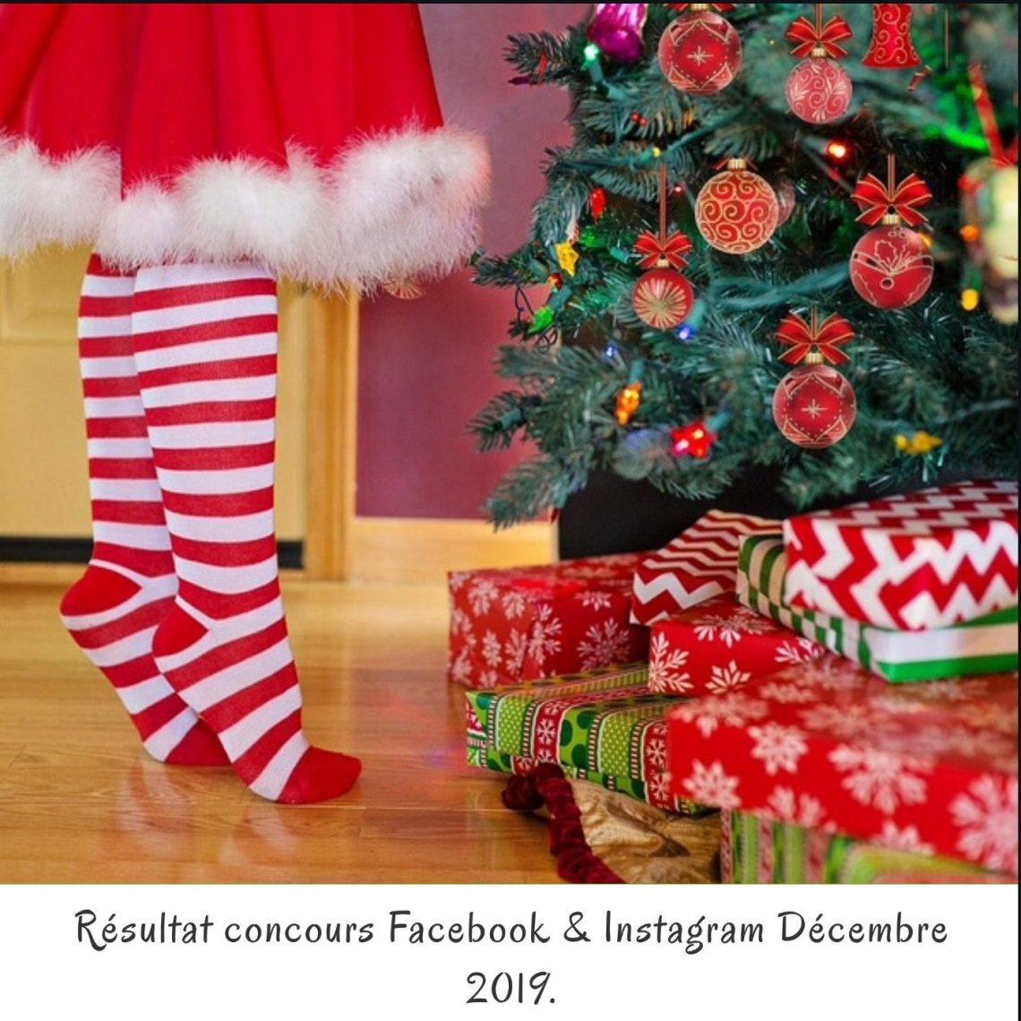 Résultat concours Facebook & Instagram Décembre 2019.