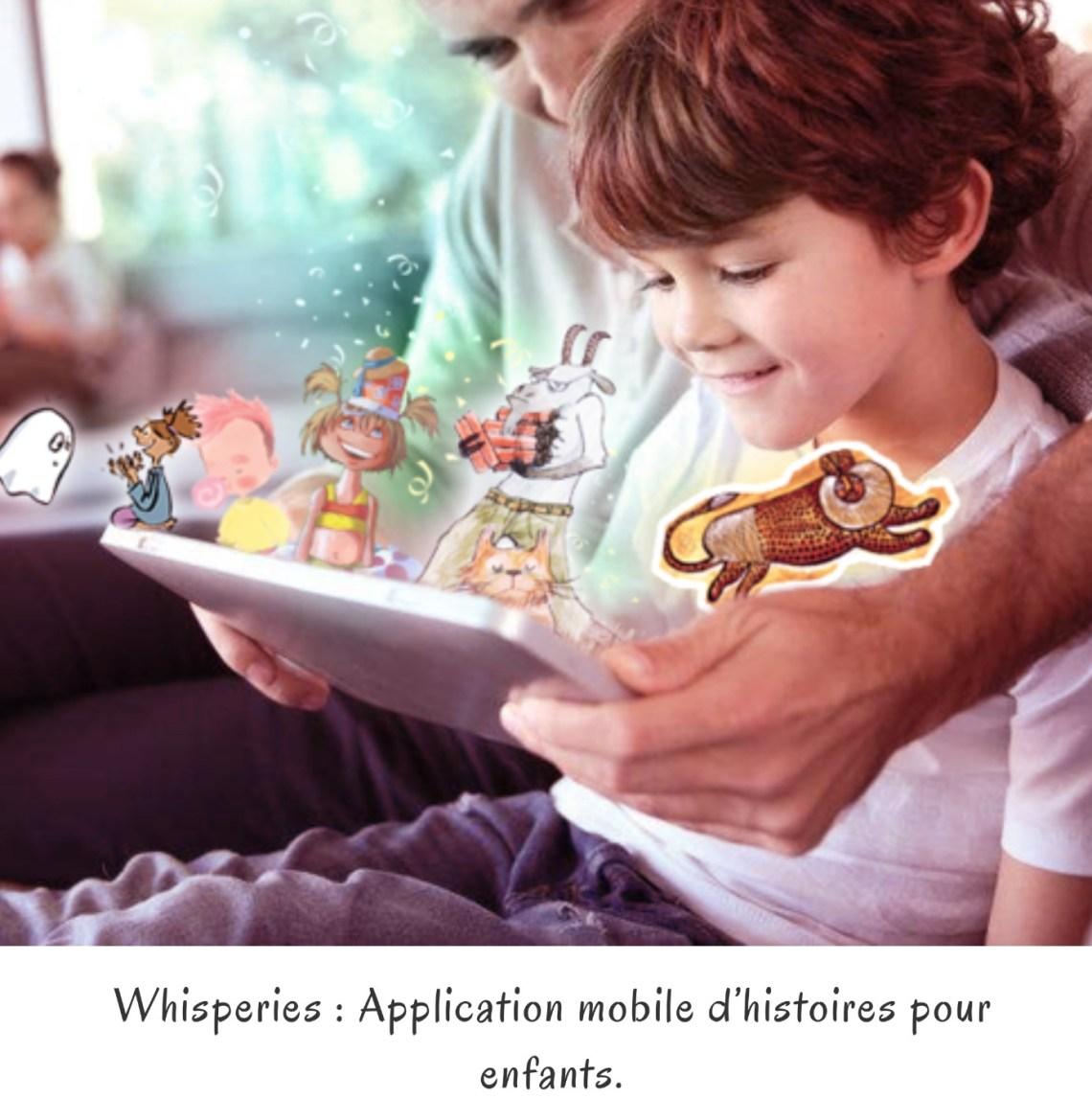 Whisperies : Application mobile d'histoires pour enfants.
