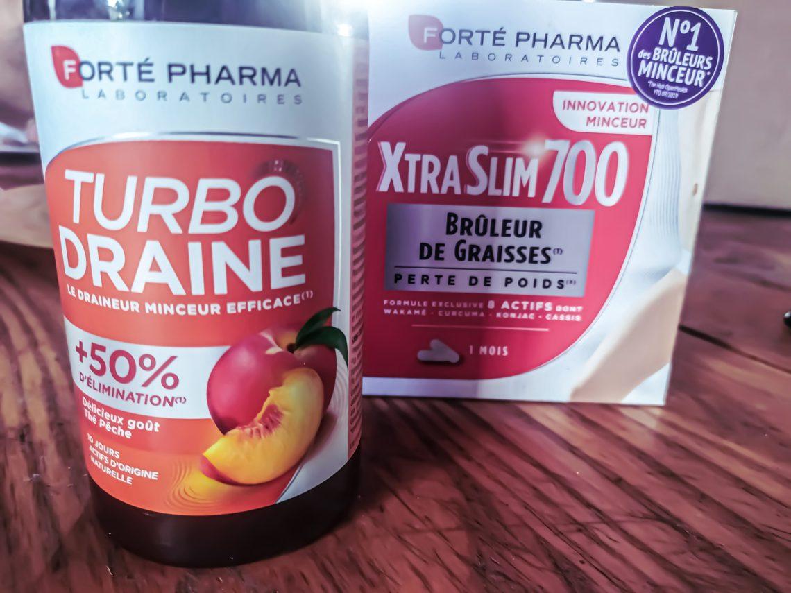 Xtra Slim 700 et Turbodraine de Forté Pharma, mon combo minceur.