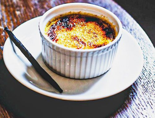 Crèmes brûlées aux pommes caramélisées (et au calvados facultatif)
