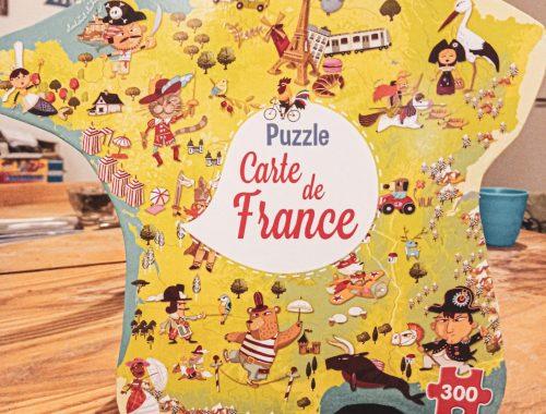 Avis : Notre Puzzle Carte de France de chez une Cuillère pour Doudou.