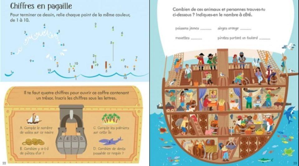 En apprendre plus sur les pirates avec le cahier d'activités Usborne.