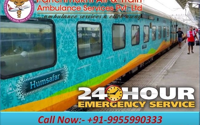 Panchmukhi Train Ambulance from Patna to Mumbai provides the Fastest and Quite Safest Service