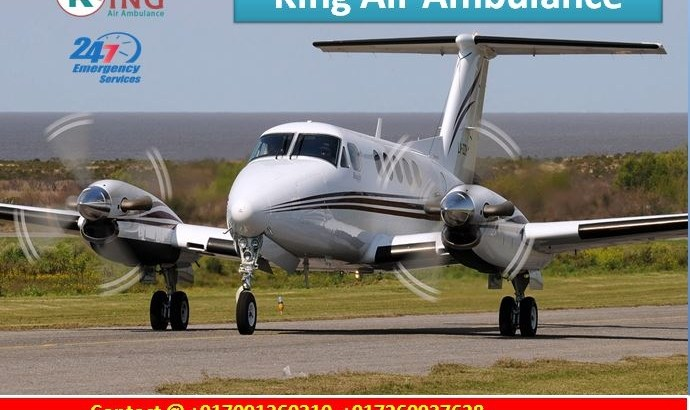 Low Price King Air Ambulance Patna to Delhi with Medical Teal