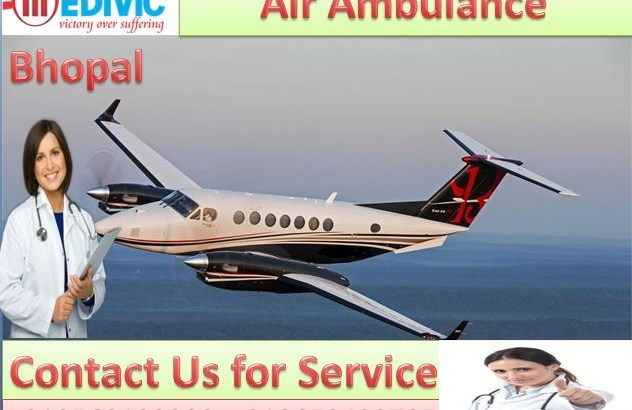 Hire Air Ambulance Services in Bhopal by Medivic Aviation at Low Cost