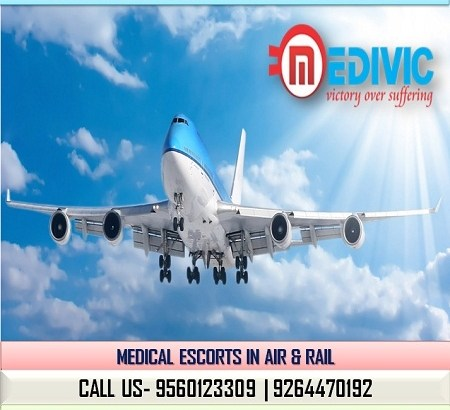 Hire at Very Low Charges Charter Air Ambulance in Patna by Medivic