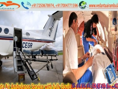 Take First-Class Emergency Air Ambulance in Patna by Vedanta