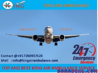 Pick Most Economical Charter Air Ambulance Service in Bhopal by King