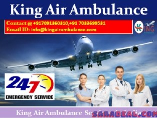 Get Spectacular Life-Saver Air Ambulance Service in Jabalpur by King