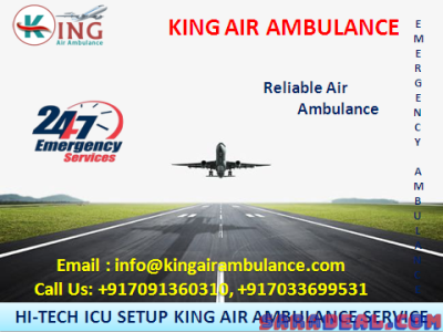 Quick Support King Air Ambulance Service in Patna in Emergency Case