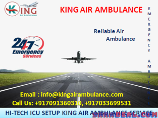 Now Get King Air Ambulance in Patna with Specialist Medical Team