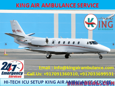 Safest and Reliable Air Ambulance in Varanasi by King