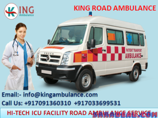 Get Ventilator Ambulance Service in Tatanagar at Just One Call by King