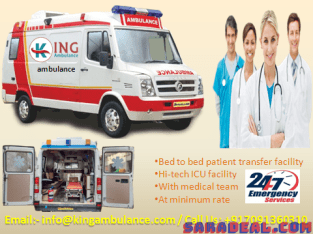 ICU Emergency Ambulance Service in Lalpur by King