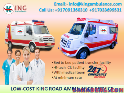 Top-Class ICU Emergency Ambulance Service in Purnia by King