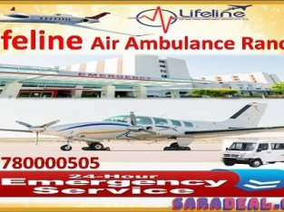 Know Lifeline Air Ambulance from Ranchi to Delhi Price