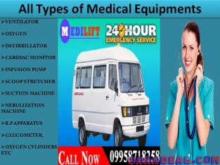 Take Medilift Best and Low-Cost Ambulance Service in Kurji, Patna at Genuine Cost
