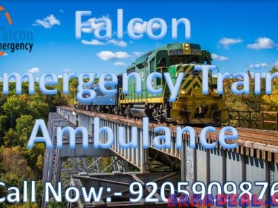 Get Falcon Fastest Train Ambulance from Kolkata to Delhi with ICU Expert Team