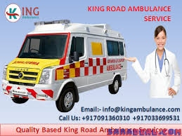 Best and cost-effective king ambulance service in Saguna More Patna.