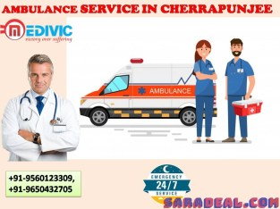 Round to Clock Ambulance Service In Cherrapunjee by Medivic Ambulance Services