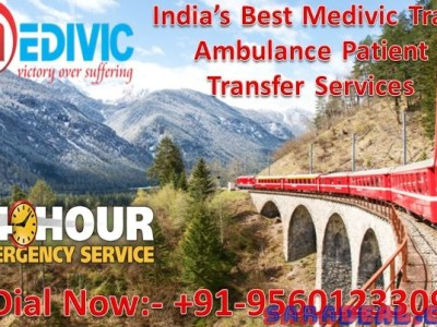 Medivic Aviation Train Ambulance from Patna to Delhi: Avail the Most Affordable Budget
