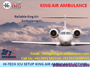 Hire Medical Featured Air Ambulance Services in Guwahati by King Ambulance