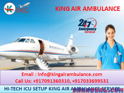 Take Safest Air Ambulance Services in Varanasi -King Air Ambulance