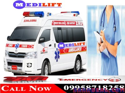 ICU Ambulance Service in Kankarbagh Patna by Medilift