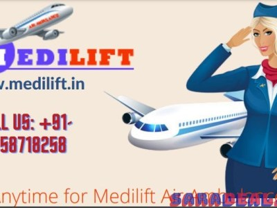 Pick Medilift Lowest Fare Air Ambulance Service in Patna with Doctor