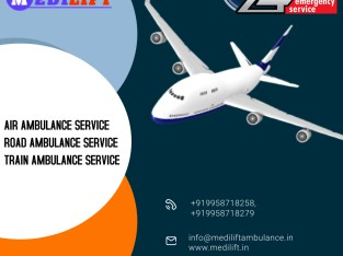 Select the Impeccable ICU Air Ambulance Service in Jabalpur by Medilift